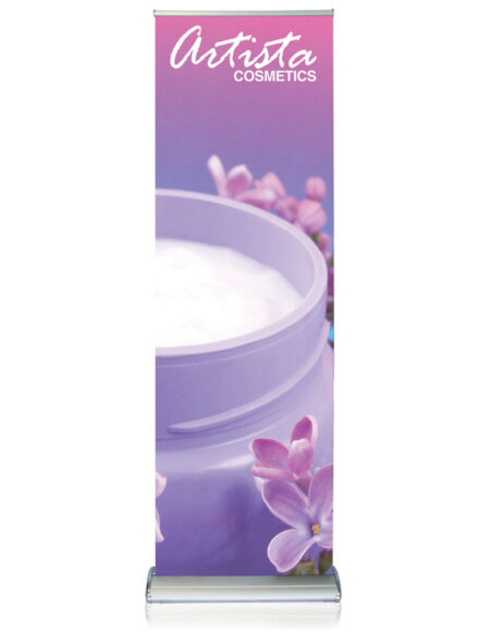 Doublestep 24 in. Retractable Banner Stand