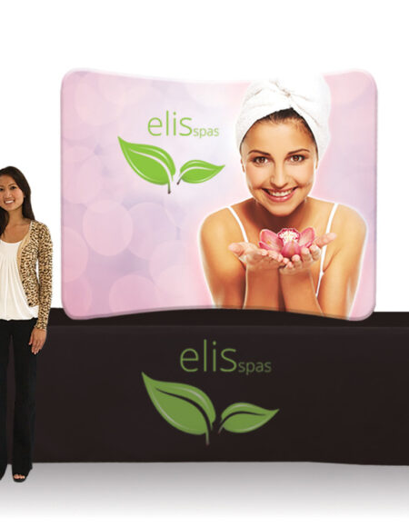 6 ft. EZ Tube Display - Tabletop Curve Double-Sided Graphic Package